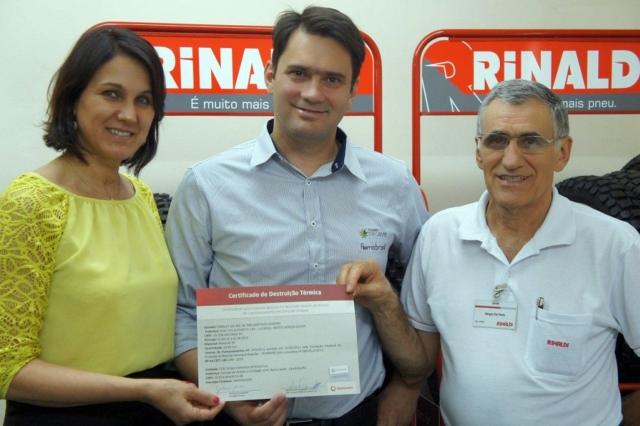 Rinaldi conquista Certificado de Destruição Térmica